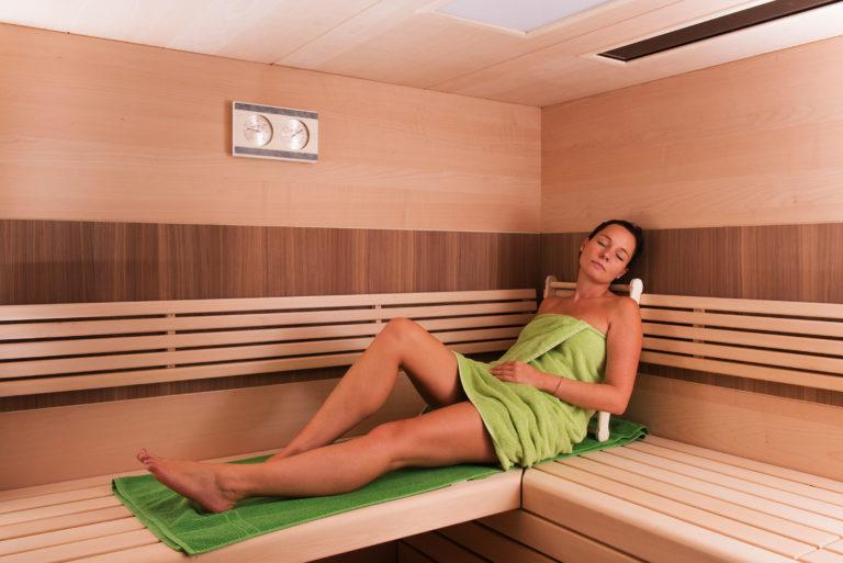 Innenansicht Sauna aus Spitzahorn