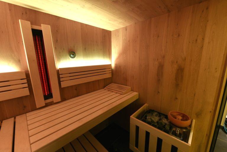 Infrarot in Sauna