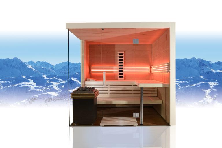 Sauna mit viel Glas
