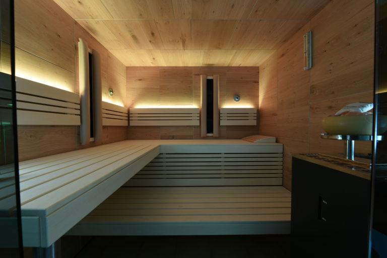 Sauna mit Verdampferofen