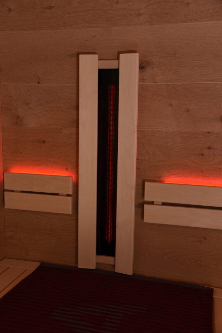 Infrarotstrahler in der Sauna