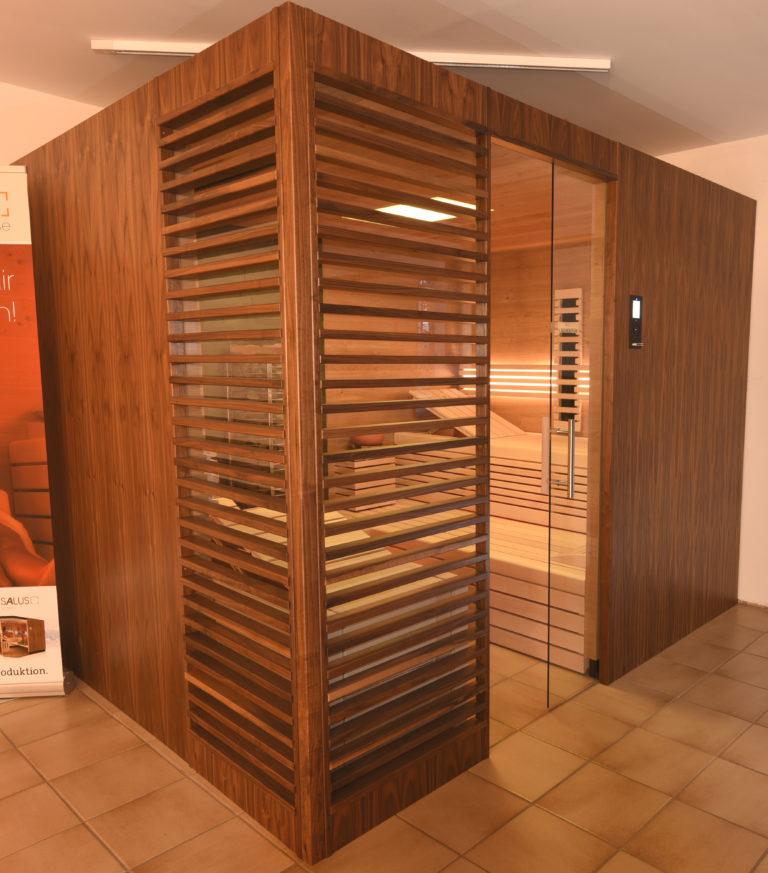 Sauna mit Glas
